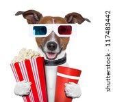 3 d glasses movie popcorn dog... | Shutterstock . vector #117483442