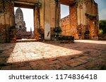 wat ratchburana temple ayuthaya ... | Shutterstock . vector #1174836418