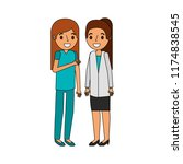 surgeon and doctor female... | Shutterstock .eps vector #1174838545