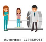 staff medical with patient and... | Shutterstock .eps vector #1174839055