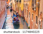 luxury gondola waiting for... | Shutterstock . vector #1174840225
