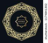 golden frame template with... | Shutterstock .eps vector #1174841302