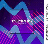 memphis background. colorful... | Shutterstock .eps vector #1174844938