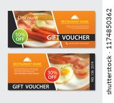 discount voucher breakfast... | Shutterstock .eps vector #1174850362