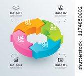 business circle arrows... | Shutterstock .eps vector #1174850602
