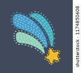 vector cartoon illustration of... | Shutterstock .eps vector #1174850608