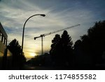 cranes and construction     | Shutterstock . vector #1174855582