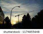 cranes and construction     | Shutterstock . vector #1174855648