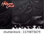 collection of white spider... | Shutterstock .eps vector #1174873675