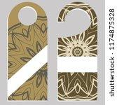 set of door hangers isolated on ... | Shutterstock .eps vector #1174875328