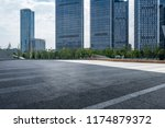 empty road with modern business ... | Shutterstock . vector #1174879372