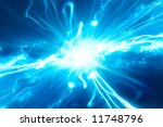 abstract blue explosion with... | Shutterstock . vector #11748796