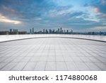 panoramic skyline and modern... | Shutterstock . vector #1174880068