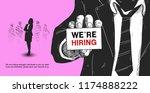 business recruiting concept man ... | Shutterstock .eps vector #1174888222