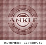 ankle red emblem or badge with... | Shutterstock .eps vector #1174889752