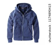 blue hoodie isolated on white... | Shutterstock . vector #1174890415