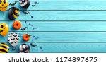 halloween background with... | Shutterstock .eps vector #1174897675