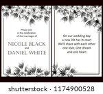 romantic wedding invitation... | Shutterstock .eps vector #1174900528