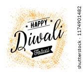 happy diwali. typography. logo... | Shutterstock .eps vector #1174901482