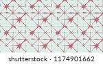 japanese kimono vector seamless ... | Shutterstock .eps vector #1174901662