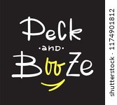 peck and booze   simple inspire ... | Shutterstock .eps vector #1174901812