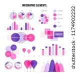 infographic elements  annual... | Shutterstock .eps vector #1174902232