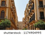 the streets of downtown beirut  ... | Shutterstock . vector #1174904995