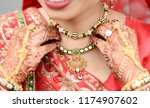 close up of indian bride... | Shutterstock . vector #1174907602