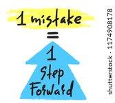 1 mistake   1 step forward  ...   Shutterstock .eps vector #1174908178