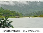 beautiful river and mountains... | Shutterstock . vector #1174909648