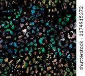 leopard seamless watercolor... | Shutterstock . vector #1174915372