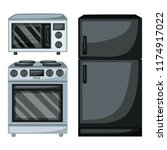 home appliances vector drawings.... | Shutterstock .eps vector #1174917022