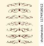 set decorative element with... | Shutterstock .eps vector #1174918012