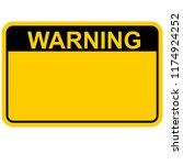 warning  sign vector | Shutterstock .eps vector #1174924252