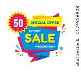 sale   vector creative banner... | Shutterstock .eps vector #1174926928