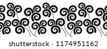 seamless vector swirly border   Shutterstock .eps vector #1174951162