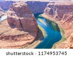 colorful horseshoe bend   Shutterstock . vector #1174953745