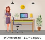 funny business character in the ... | Shutterstock .eps vector #1174955092