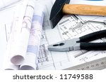 hard hat and working tools | Shutterstock . vector #11749588