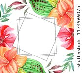 frames for congratulation with ... | Shutterstock . vector #1174966075