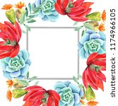 frames for congratulation with ... | Shutterstock . vector #1174966105
