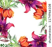 frames for congratulation with ... | Shutterstock . vector #1174966108