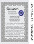 grey invitation template.... | Shutterstock .eps vector #1174972735