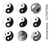 yin yang  symbol of balance and ... | Shutterstock .eps vector #117497596