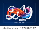 vector illustration  happy new... | Shutterstock .eps vector #1174980112
