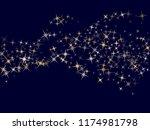bright magic stars gold falling ... | Shutterstock .eps vector #1174981798