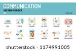 communication vector icon set. | Shutterstock .eps vector #1174991005