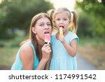little beautiful girl with...   Shutterstock . vector #1174991542
