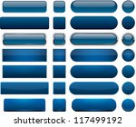 set of blank dark blue buttons... | Shutterstock .eps vector #117499192