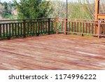 wooden empty balcony | Shutterstock . vector #1174996222